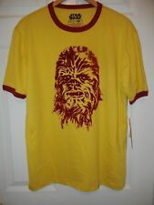 STAR WARS CHEWBACCA RINGER STYLE T-SHIRT MENS SMALL NEW WITH TAGS