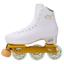 New G H Loop LT White Inline Figure Skates US Size 5.5