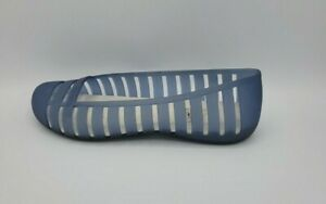 Crocs Womens Adrina ll Translucent Blue Denim Slip On Flats Shoes 11831 Size 8