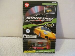 NEED FOR SPEED PORSCHE UNLEASHED CD ROM PC GAME AND #28 CUSTOM TEXACO 1/64