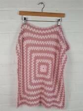 Handmade Dusty / Baby Pink Crochet Blanket Size 25 x 25 inches Pram