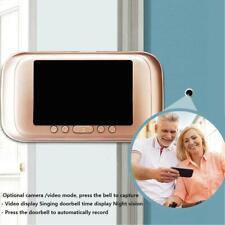 3.5inch 720P Digital Door Bell Camera Video Peephole Viewer Zoom Video Recorder