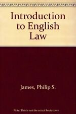 Introduction to English Law By Philip S. James. 9780406504227