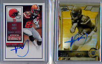VINCE MAYLE = 2015 Chrome Sepia AUTO /100 & Contenders Ticket AUTO - Browns RC
