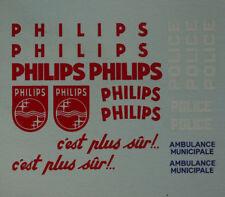 Pièces pour Dinky: décalcomanie Citroën HY philips réf 587, ID 19 réf 556
