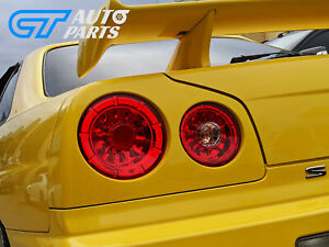 Clear Red LED Tail Lights for 99-02 Nissan Skyline R34 GTR GTT taillights