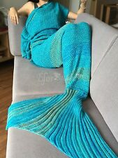 Handmade Crochet Mermaid Tail Blanket Child Adult Size Knitted Cocoon Sofa Bag