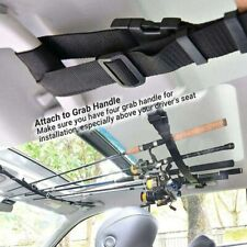 2pcs 5-Pole Car Fishing Rod Holders Carriers Horizontal Mount Storage Strap Belt
