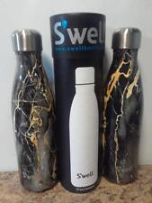 S'well Vacuum Stainless Steel Water Bottle 17 oz, Bahamas Gold Marble lot of 2