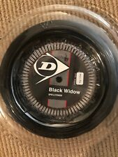 Dunlop Black Widow 18g Tennis String 660ft / 200m Reel - New