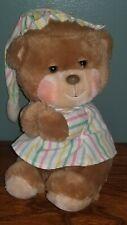 Vintage Teddy Bear Plush Night Cap Fisher Price Sleepy Stuffed Animal