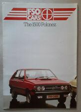 FSO 1500 Polonez Brochure 1984