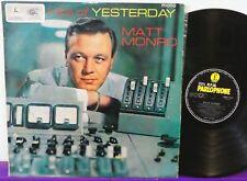 MATT MONRO Hits Of Yesterday LP Black & Gold MONO PARLOPHONE AUSTRALIA Beatles