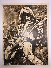 "Shepard Fairey ""Johnny Ramone"" OBEY Signed Print Poster Art Graffiti The Ramones"