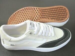 Vans Mens Elijah Berle Pro Canvas Suede Skate shoes Marshmallow Black Sz 10.5
