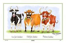 Cow Tea Towel -Cheddar Cows  Linen/Cotton Blend Samuel Lamont Design UK