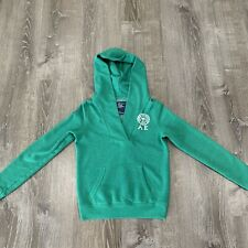 American Eagle Green Hoodie Sweatshirt- Size Small