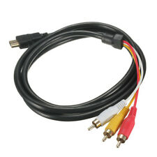 HDMI auf 3x RCA RGB Adapter Cinch Kabel 1-5m Video TV 1080P Scartstecker