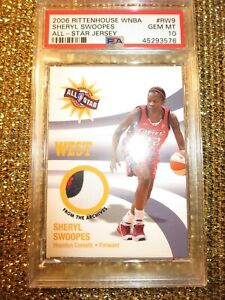 Sheryl Swoopes WNBA All Star Game Houston Comets 3 Color Used Jersey PSA 10