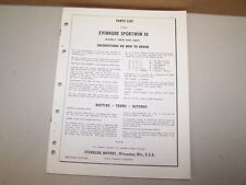 1959 Evinrude Outboard Factory Parts List Sportwin 10 Boat Motor