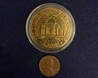 Aladdin Casino Worlds 7 Wonders Taj Mahal Two Dollar Gold Chip Token Coin Sealed