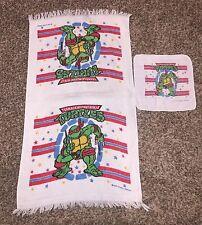 Vintage 90's Teenage Mutant Ninja Turtles Raphael Towel And Wash Cloth