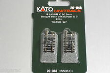 Kato n gauge Unitrack Straight Track with Bumper C 50mm 2pcs 20-048
