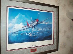 Red Tail Angels- By John Shaw- A Salute To The Tuskegee Airmen, Signed, Framed