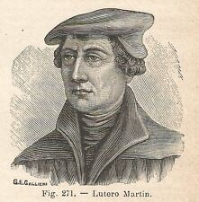B2000 Martin Luther - Incisione antica del 1928 - Engraving