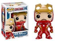 Marvel Captain America Civil War Iron Man Unmasked Funko Pop Vinyl