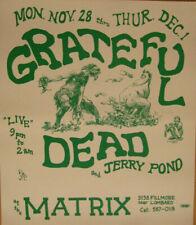 Grateful Dead Cream THE MATRIX Original 1966 Concert Poster > Ships Free