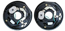 """2 -Complete Trailer Electric Brake Backing Plate 3500 axle 10"""" x 2.25"""" Shoe axel"""