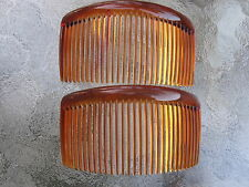 """Shell Brown Rounded Back Side Comb 29 Tooth 4 1/2"""" comb NEW Made in USA 42017"""