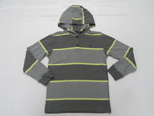 Quiksilver Boys Stripe Hoodie Pullover Sweatshirt Jacket Long Sleeve Sz Medium12