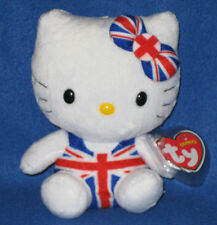 TY HELLO KITTY UNION JACK JUMPER BEANIE BABY - MINT TAGS - UK EXCLUSIVE