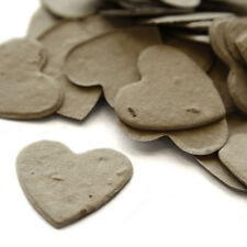 Stone Grey Heart Shaped Wildflower Seed Recycled Paper Eco Plantable Confetti