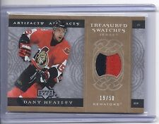 2007-08 UPPER DECK ARTIFACTS DANY HEATLEY TREASURED GOLD SWATCHES PATCH SP /50