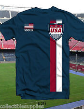 USA Soccer Tee Shirt Great for World Cup T-Shirt 100% Cotton