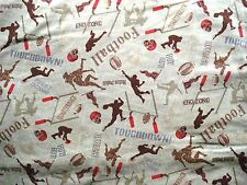 """Vintage Cotton Quilt Fabric Football by 18""""x 44"""""""