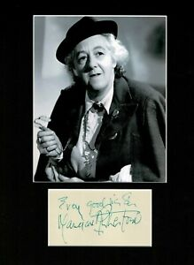 MARGARET RUTHERFORD MISS MARPLE AUTHENTIC SIGNED AUTOGRAPH DISPLAY UACC