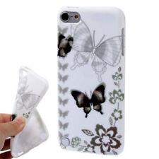 TPU Case für Apple iPod Touch 5 Schmetterlinge grau weiß schwarz Etui Hülle