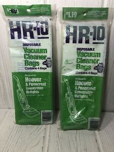 HR-10 Vacuum Cleaner Bags For Hoover & Penncrest Convertible Uprights 2 PKGS NEW