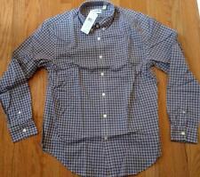 Authentic Mens Lacoste Poplin Plaid Button Up Shirt Maroon/Blue 40 Medium Slim