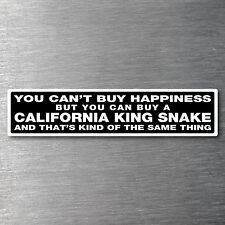 Buy a California King Snake sticker Premium 7 yr water/fade proof vinyl pet