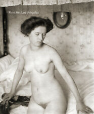 Alfred Stieglitz, Clarence H. White Photo,Female Figure on Bed, early 1900s