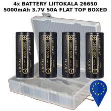 4x BATTERY LIITOKALA Lii 26650 5000mAh 50A DISCARGE HIGH DRAIN BATTERIA + BOX
