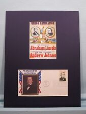 1864 Republican Ticket -Abraham Lincoln & Andrew Johnson & the First day Cover