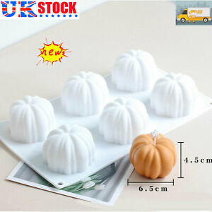 Decoration Halloween Pumpkin Candle Cake Making Silicone Mould Candle DIY Mold