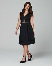 Lovedrobe deep V skater dress with geo trim uk size 18 (ref rail 111) RRP £33