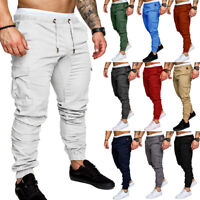 Jogger Slim Pencil Casual Trousers Pants Fit Straight Cargo Leg Urban Men's New